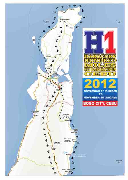 hardcore hundred miles ultramarathon official route map
