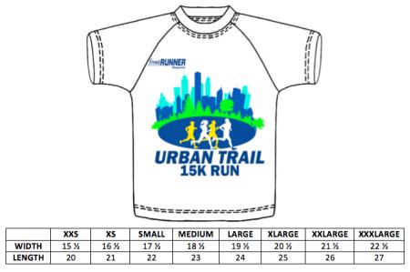 UTR size chart