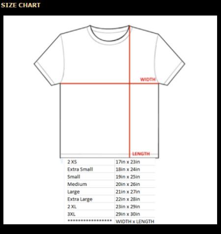 shirt size SS